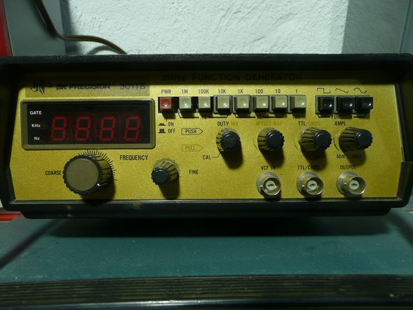 I got this function generator off ebay for fifty dollars including shipping, and it arrived all working. If it was in spec or not I am not exactly sure, but on my scope it seemed well within operating condition.