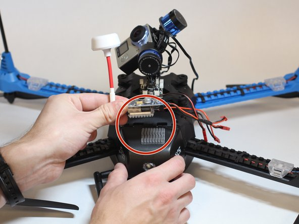 If your drone is equipped with it, remove the video transmitter.