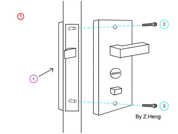 建议两个人一同操作,一个人在外侧扶住外把手,一个人在另一侧卸螺丝。
