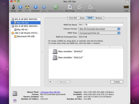 If you're like us and Time Machine just isn't enough, you can RAID the two drives together to make a single 1 TB drive.