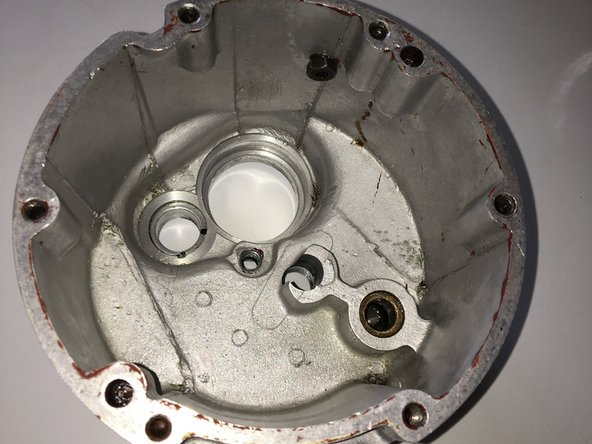 Remove all traces of old gasket or sealant form the casing face.