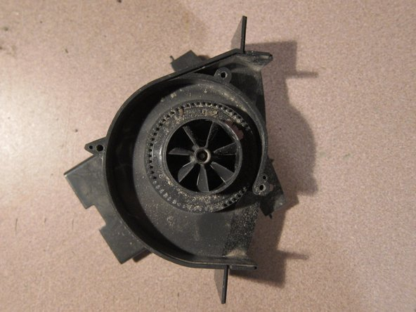 Turn over blower assembly