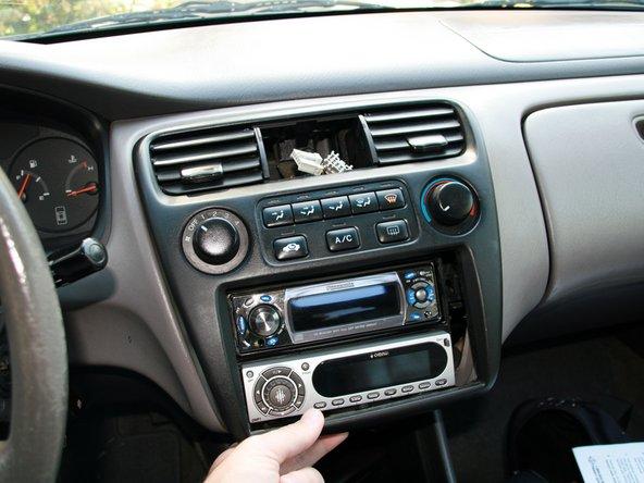 1998 Honda Accord Center Dash Disassembly