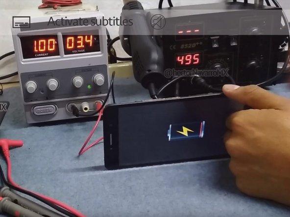 如何使用(BAKU电源)打开[Alcatel Pixi 4 8050G]并重新激活电池耗尽