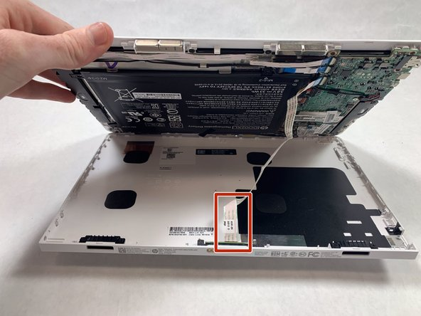 Once each edge has been separated, gently lift the face (screen) from the back.