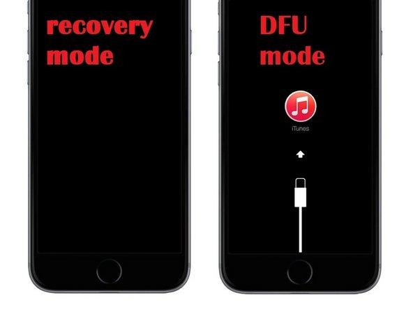 iPhone - 4 / 4S / 5 / 5S / 5c / 6 / 6S - Het inschakelen van de DSU-modus