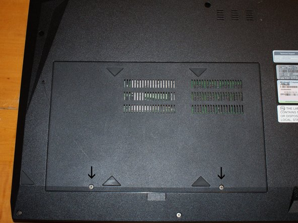Remove the two screws indicated to remove the access panel.  I recommend keeping the screws with the panel so you don't lose or forget them.