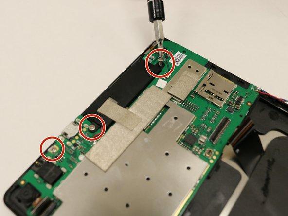 Remove the three 2.0mm screws using the Phillips #00 Screwdriver bit.