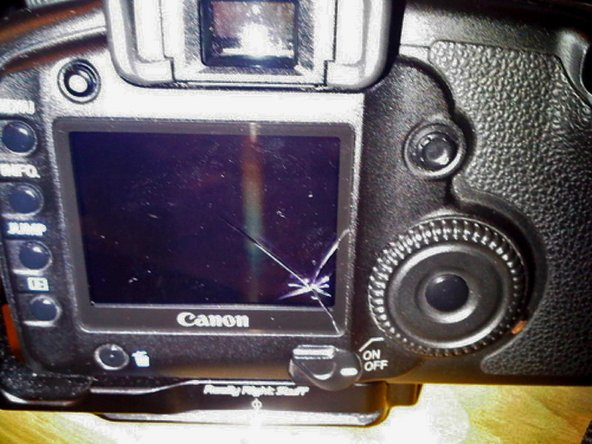 Here is the part we need to replace with a new LCD lens.
