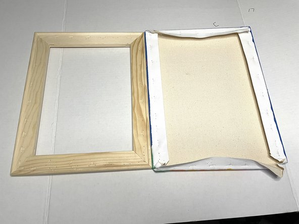 Remove the canvas and place the wood frame aside