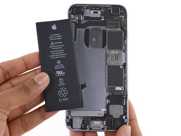 Substituição da bateria do iPhone 6s