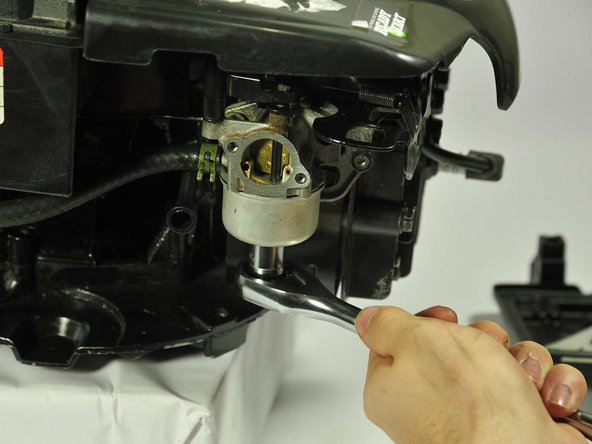 """Use a socket wrench with a ½"""" hex bit to remove 11mm screw on the bottom of the tank."""