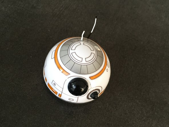The head is kept in place by magnets. The wheels are located inside the head and pick up all kinds of dirt so over time the wheels are getting stuck by all the dirt and BB-8 doesn't respond as it did when it was new.