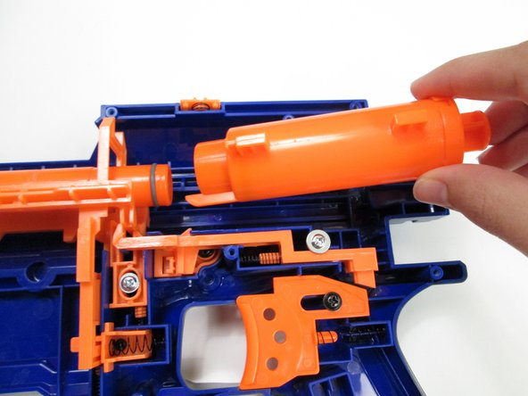 Pull the plunger towards the rear of the rifle to remove it.