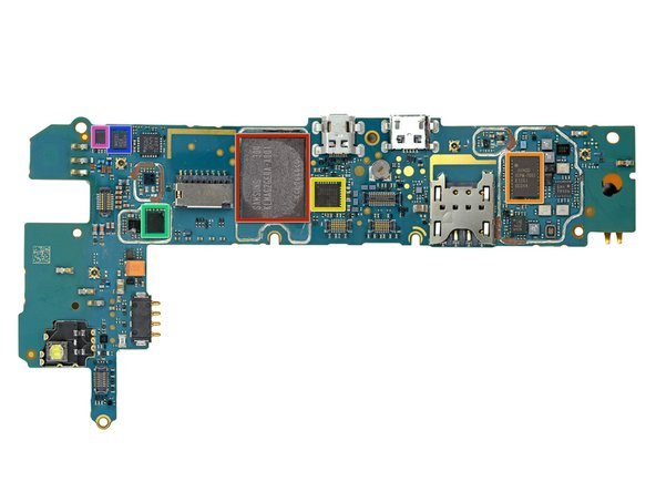 A few of the major ICs on the backside of the motherboard: