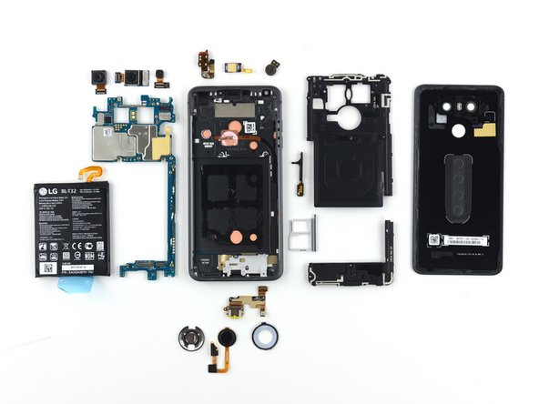 The LG G6 earns a 5 out of 10 on our repairability scale (10 is the easiest to repair):