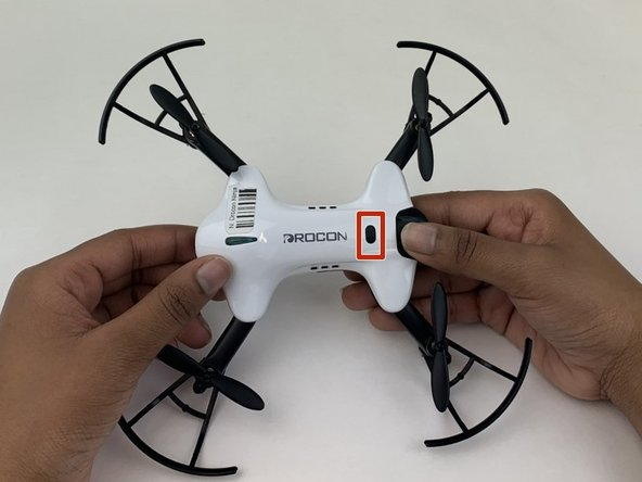 Make sure the drone is powered off before beginning the battery replacement.