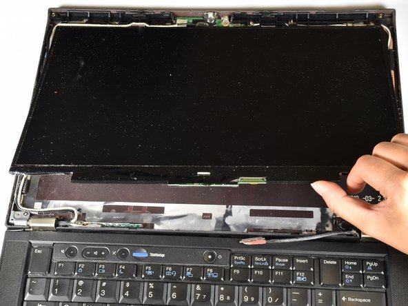 Lift the LCD screen out to replace.