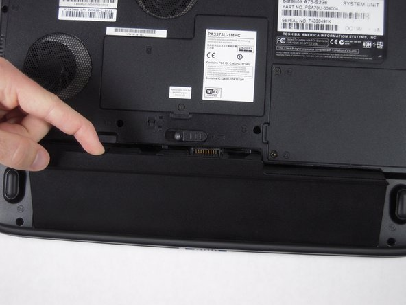 Lift battery out of the computer.
