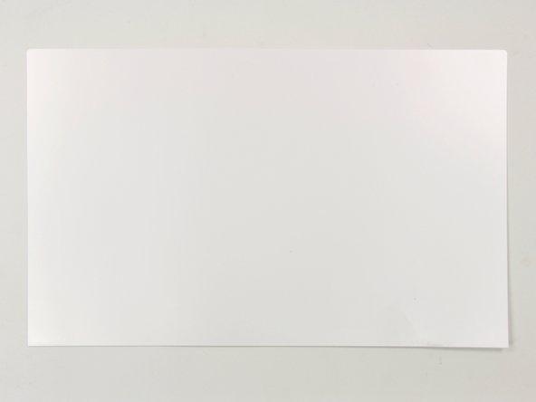 White paper backdrop for LED backlights - quantity 1