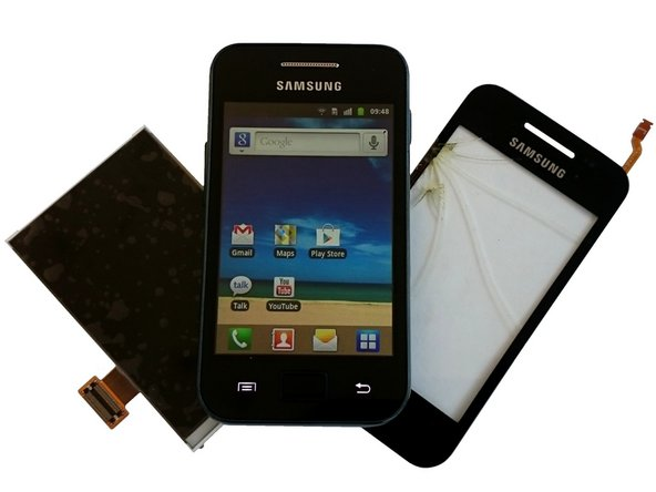 Samsung Galaxy Ace Touch screen Glass, LCD Display, Earpiece, Loudspeaker, Main Camera Replacement