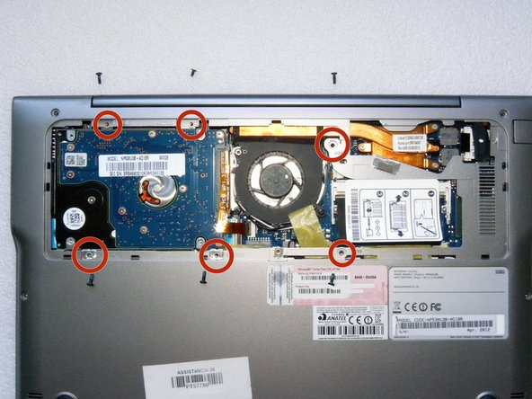 Remove the other 6 screws.
