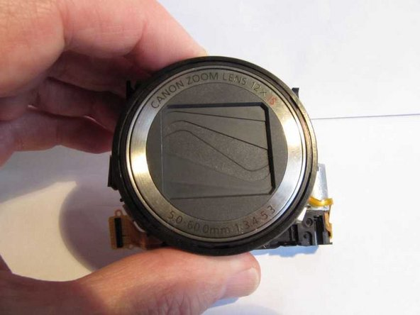 Canon PowerShot SX200 IS Lens Disassembly