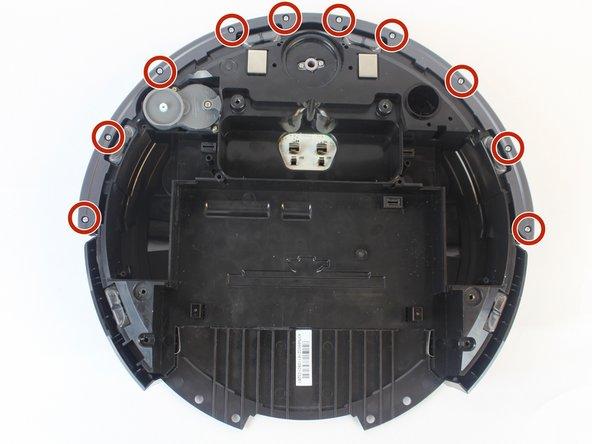 Remove the (10) ten 6.1mm silver screws.