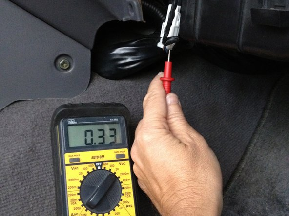 Test the thermistor by turning the Engine ON and the Air Conditioner ON.