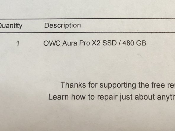 Mac Laptop SSD Replacement