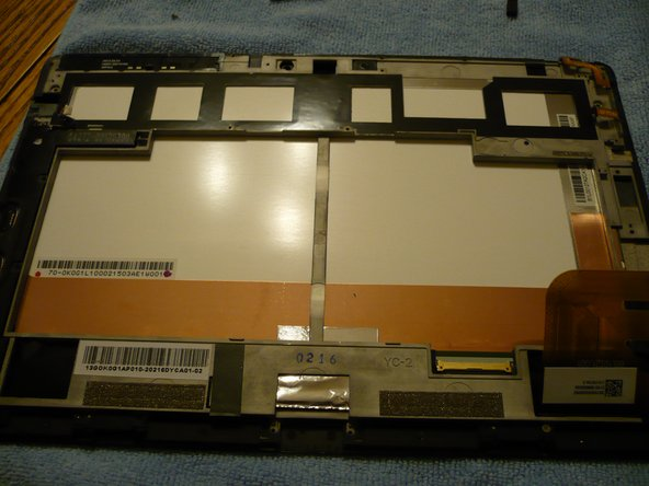Pic 1 - PCBs removed.  Screen assembly and frame only.
