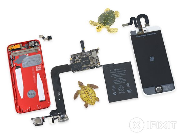 iPod turtle Touch 6th Generation Repairability Score: 4 out of 10 (10 is easiest to repair)