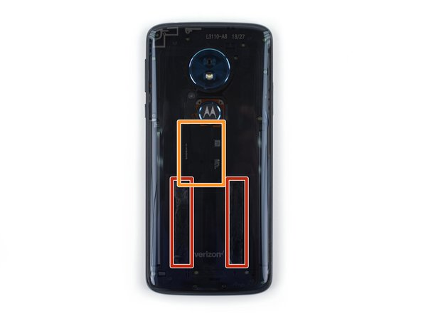 There are two strips of adhesive on either side of the lower half of the phone that must be separated to remove the rear glass panel.