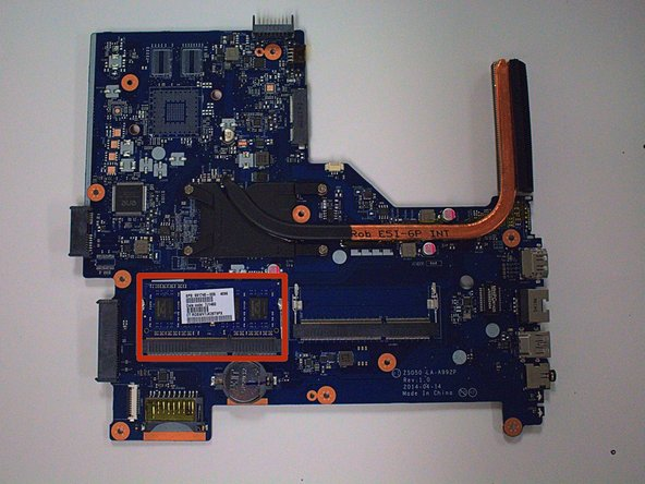 Put the motherboard on a hard, flat surface to avoid damaging it.