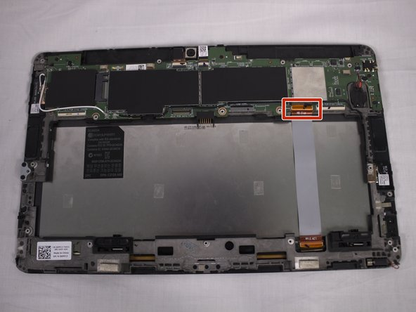 This is the tablet with its mini HDMI, speakers, and USB port removed. If you only want to replace your motherboard then all previous components will be disconnected from the board but will remain on the tablet.