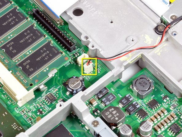 Disconnect the Reed Switch board connector from the logic board.
