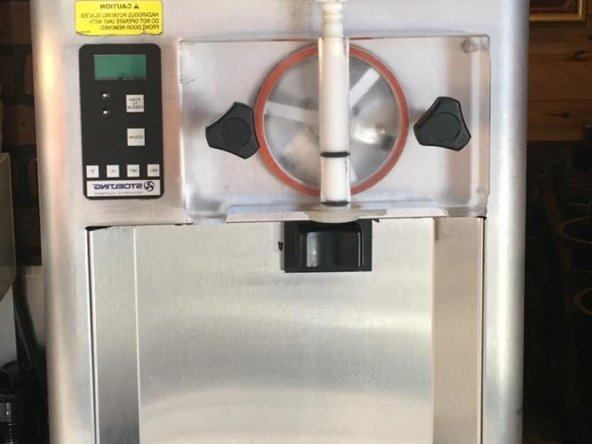 Cleaning the Condenser of an Ice cream maker