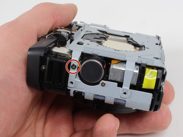 Reorient the camera so that you are looking at the side with the black felt circle.