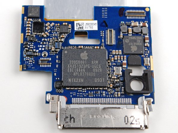The front of the logic board.