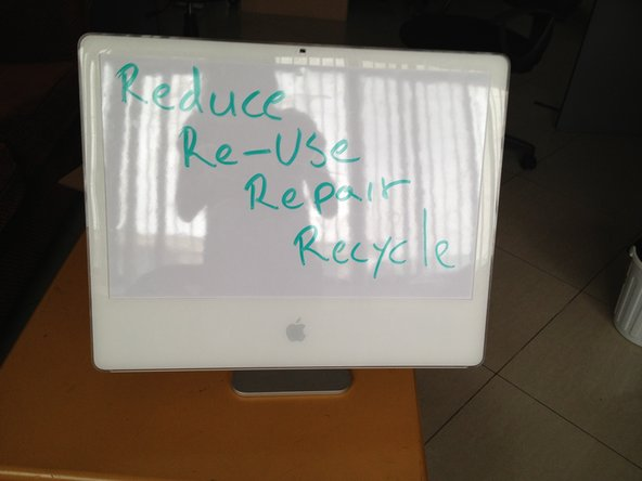 Reassemble your iMac and write something on it.