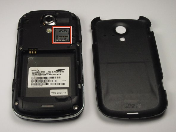 Locate the memory card on the upper right-hand corner of the device.