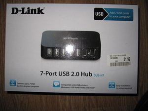 D-Link 7-Port USB 2.0 HUB Teardown