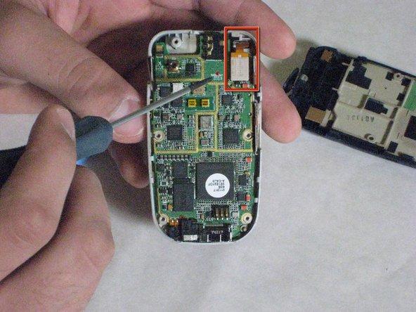 Carefully detach golden screen connector.