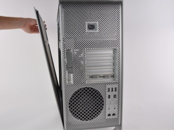 Remove the side panel of the Mac Pro