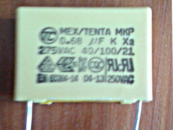 MKP Capacitor X2 (26.5 x 11 x 21 mm) RM 22.5 mm 0.68 microF 275 V AC Hauptbild