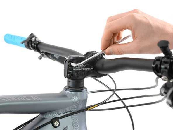To tighten your headset, loosen the rear screw nuts of your stem at first.