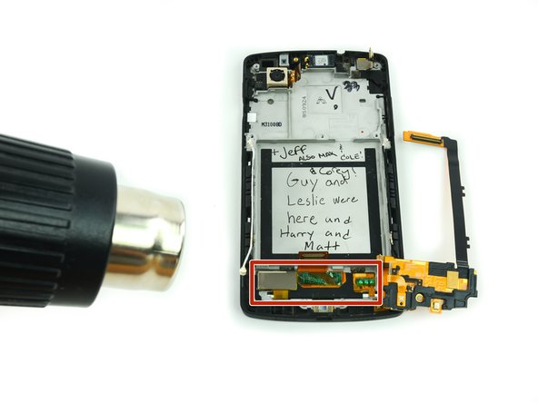 Use an iOpener or heat gun and carefully apply heat to the digitizer panel to soften the adhesive that secures it to the frame.