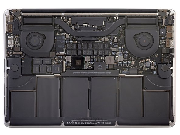 The MacBook Pro's innards revealed for your pleasure. If you like details, check out the gigantor version!