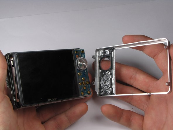 Rotate camera so that the back is facing you.