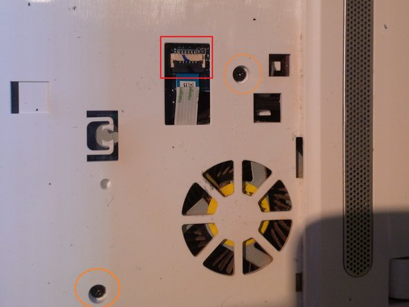 now you will see 2 connectors and 7 screws under the keyboard.